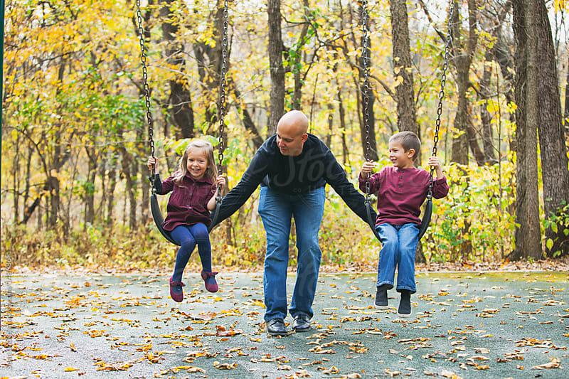 stock photo: kids swingset