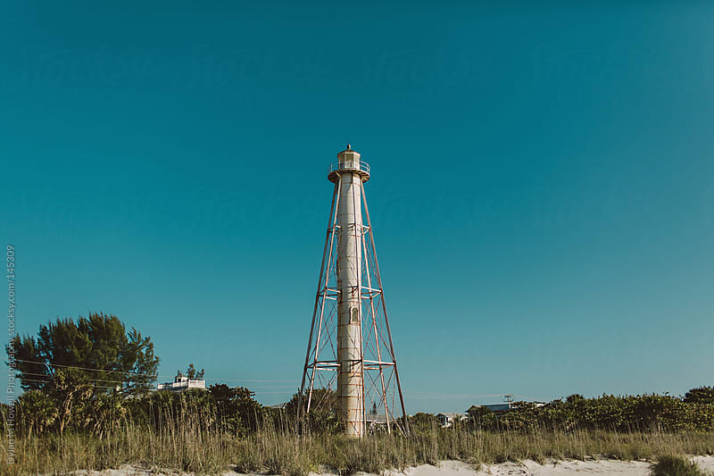 Lighthouse in Boca Grande, Florida. by Dylan M Howell Photography for Stocksy United