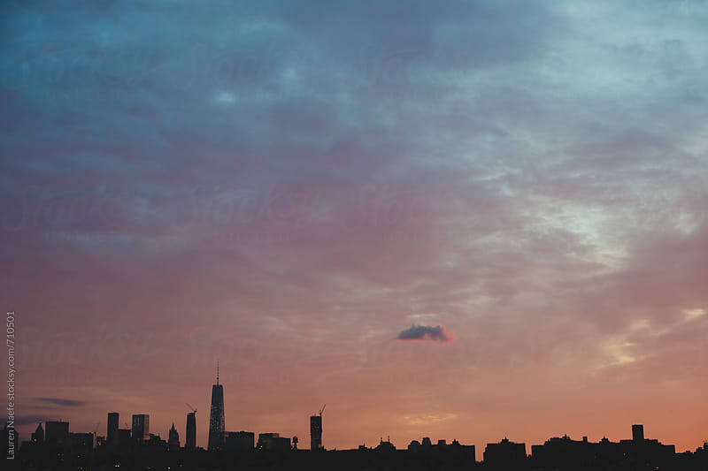 Manhattan skyline seen from Brooklyn by Lauren Naefe for Stocksy United