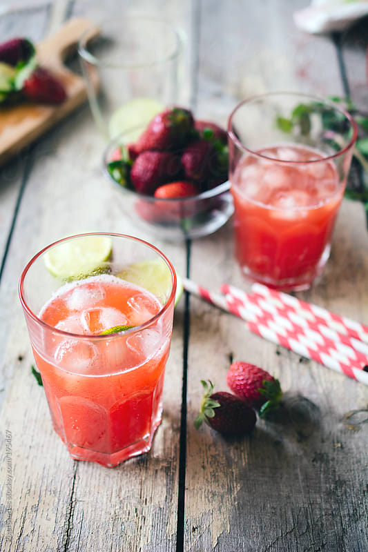 Strawberry lemonade by Pixel Stories for Stocksy United