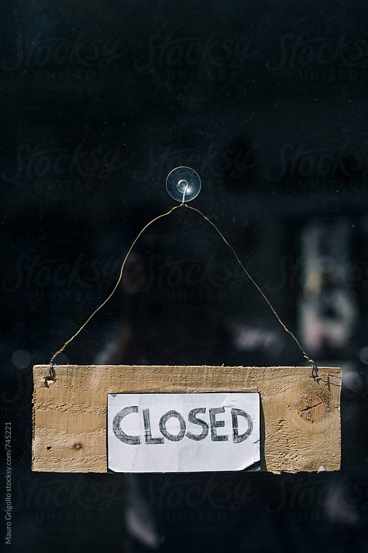 Closed sign by Mauro Grigollo for Stocksy United