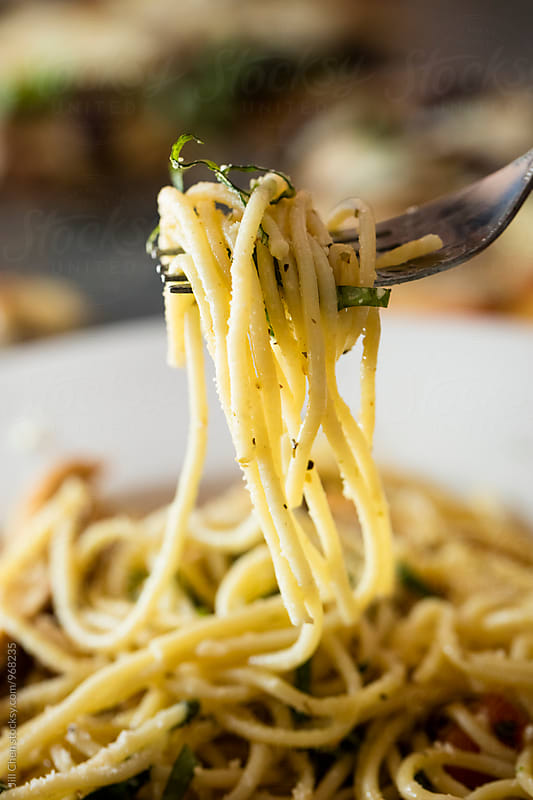 Pasta on Fork by Jill Chen for Stocksy United