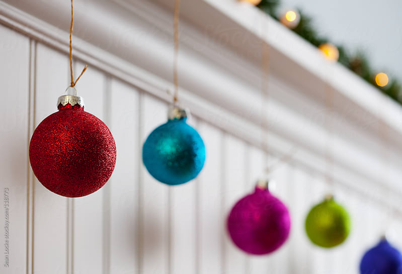 Holidays: Decorative Ornaments Hanging From Jute by Sean Locke for Stocksy United