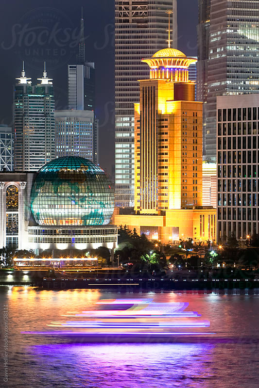 New Pudong skyline; looking across the Huangpu River from the Bund; Shanghai; China by Gavin Hellier for Stocksy United