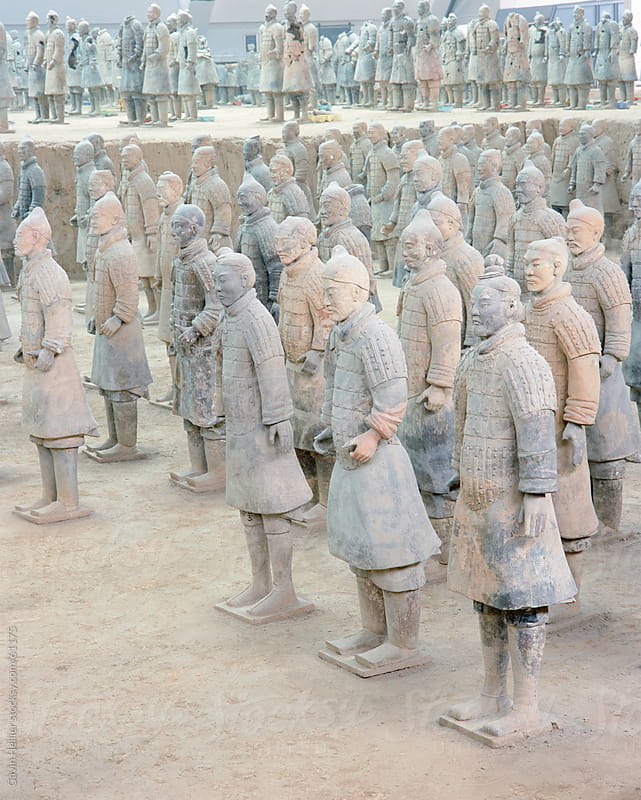 Terracotta Warriors, Xian, Shaanxi Province, China by Gavin Hellier for Stocksy United