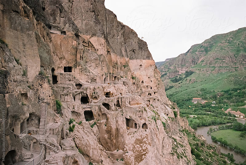 Cave architecture at Vardzia by Milles Studio for Stocksy United