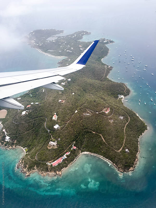 Flying over the U.S. Virgin Islands by Cara Dolan for Stocksy United