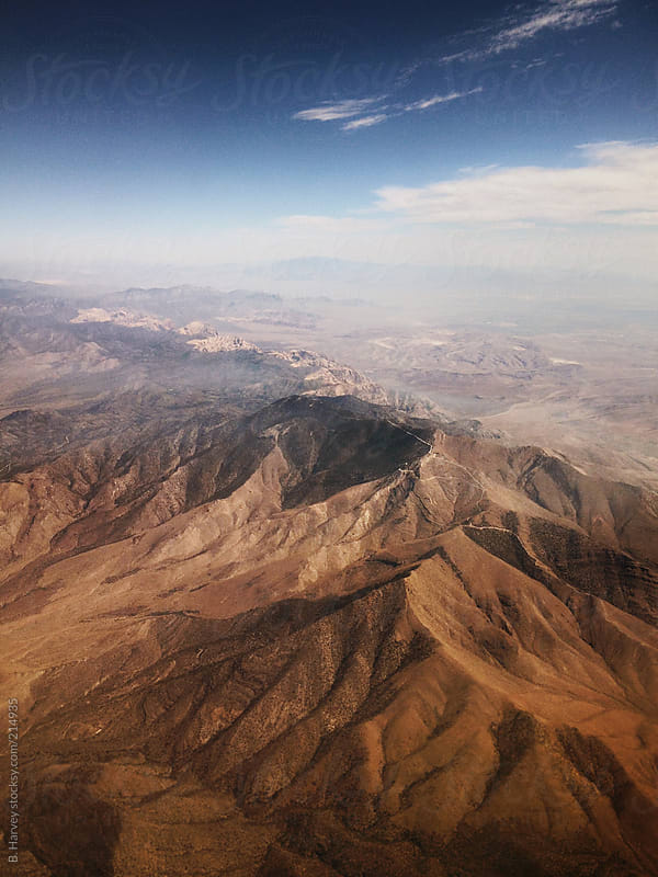 American Mountains Viewed from the Sky by B. Harvey for Stocksy United