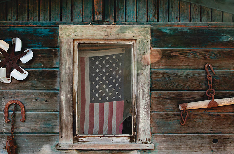Old American Flag  by Jayme Burrows for Stocksy United