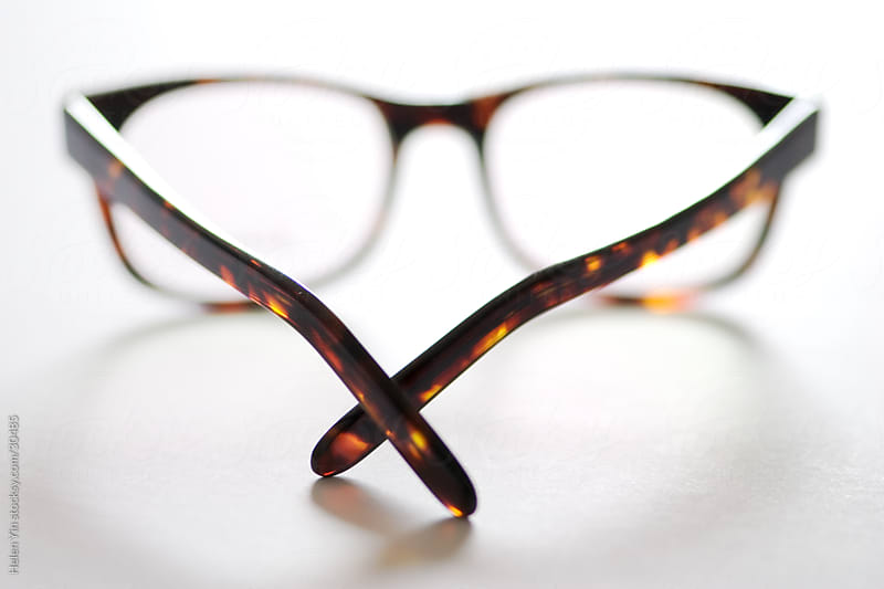 tortoise shell reading glasses by Helen Yin for Stocksy United