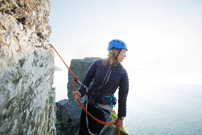 Female Rock Climber by Hugh Sitton for Stocksy United