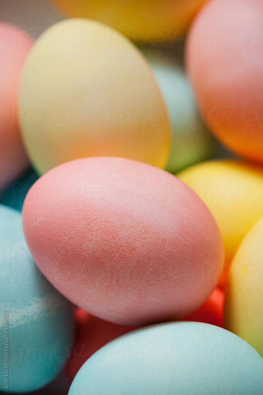 Easter: Pastel Colored Easter Eggs From Natural Dyes by Sean Locke for Stocksy United