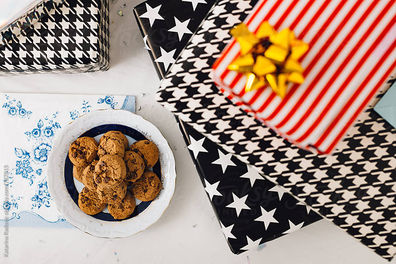 Cookies For Santa Next to the Presents by Katarina Radovic for Stocksy United