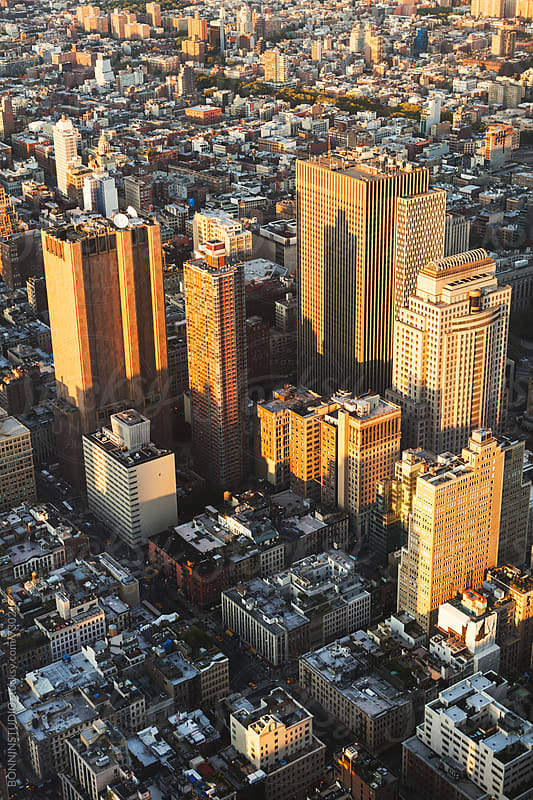 Views of Manhattan skyline. by BONNINSTUDIO for Stocksy United