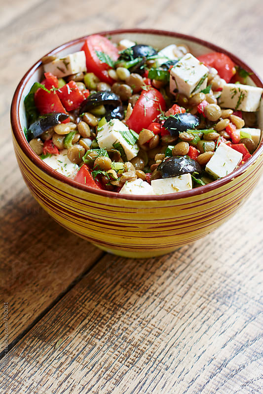 Lentil salad by Harald Walker for Stocksy United