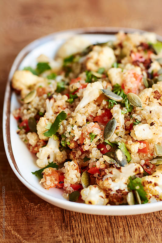 Caramelized Cauliflower Quinoa Salad by Harald Walker for Stocksy United