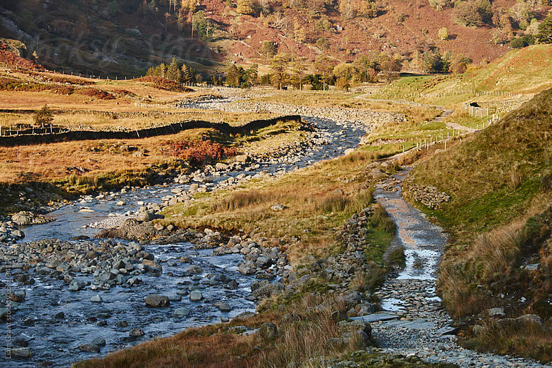 Footpath in seathwaite valley. Cumbria, UK. by Liam Grant for Stocksy United