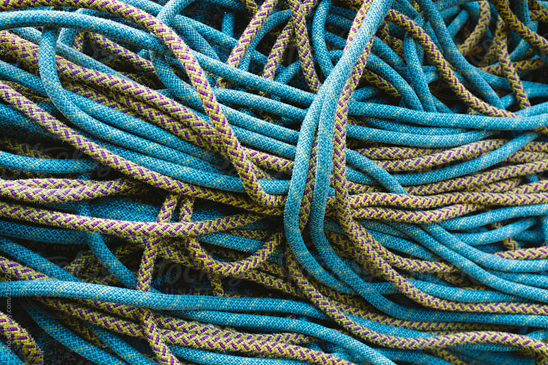 A pile of climbing ropes by Micky Wiswedel for Stocksy United