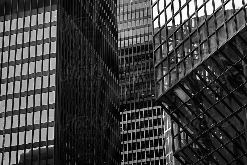 Buidlings Abstract in Black and White by Jeff Wasserman for Stocksy United