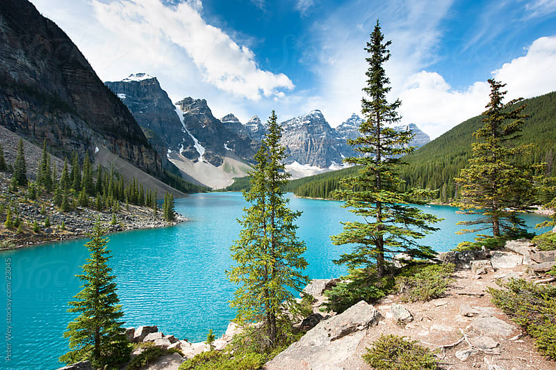 Banff National Park: Moraine Lake by Peter Wey for Stocksy United