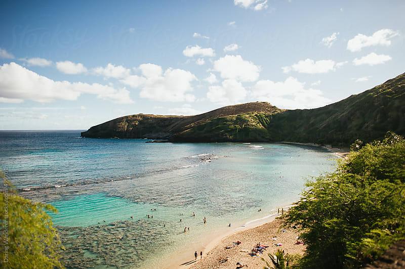 Hanauma Bay sunken volcano crater in Oahu Hawaii by Daring Wanderer for Stocksy United