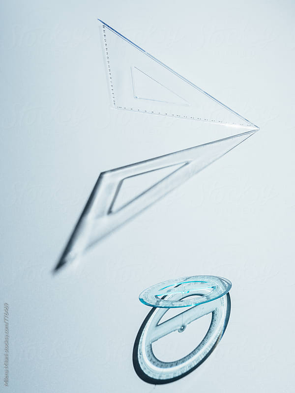 Square ruler and goniometer by Milena Milani for Stocksy United