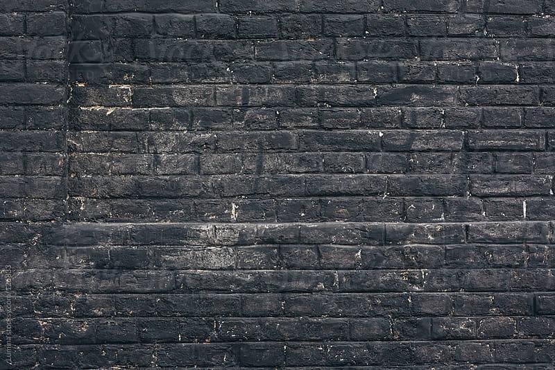 Black Brick Wall by Lumina for Stocksy United