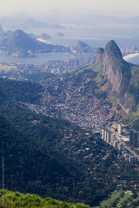 Brazil, Rio de Janeiro, view of Rio's spectacular coastline and city by Paul Edmondson for Stocksy United