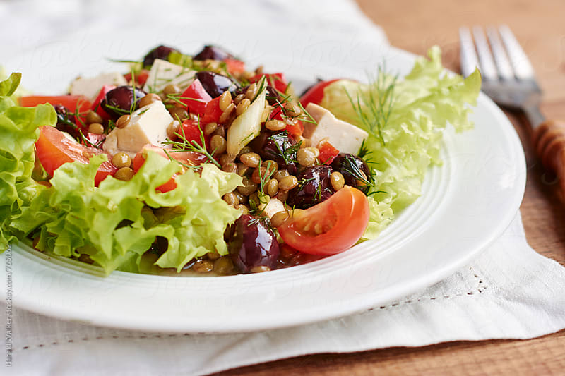 Greek Flavored Lentil Salad by Harald Walker for Stocksy United