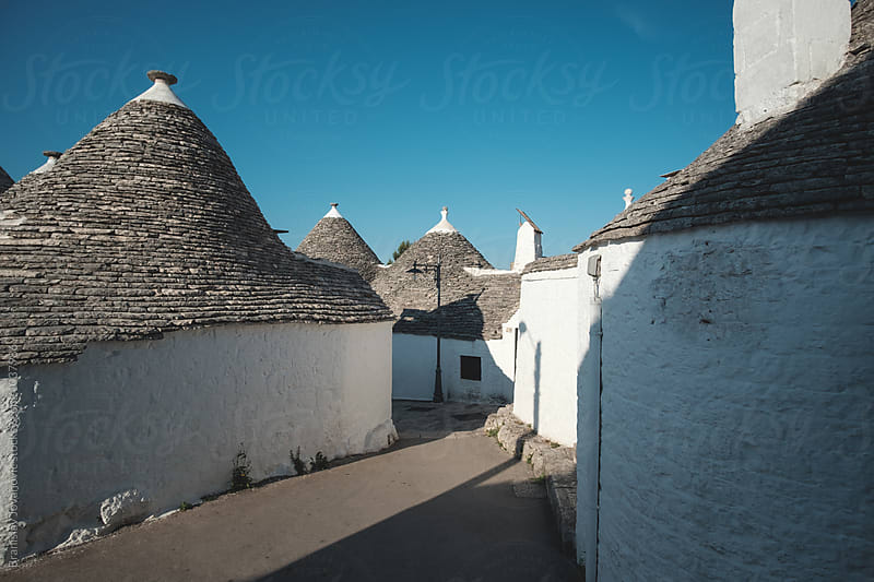 The trulli, the characteristic cone-roofed houses of Alberobello by Brkati Krokodil for Stocksy United
