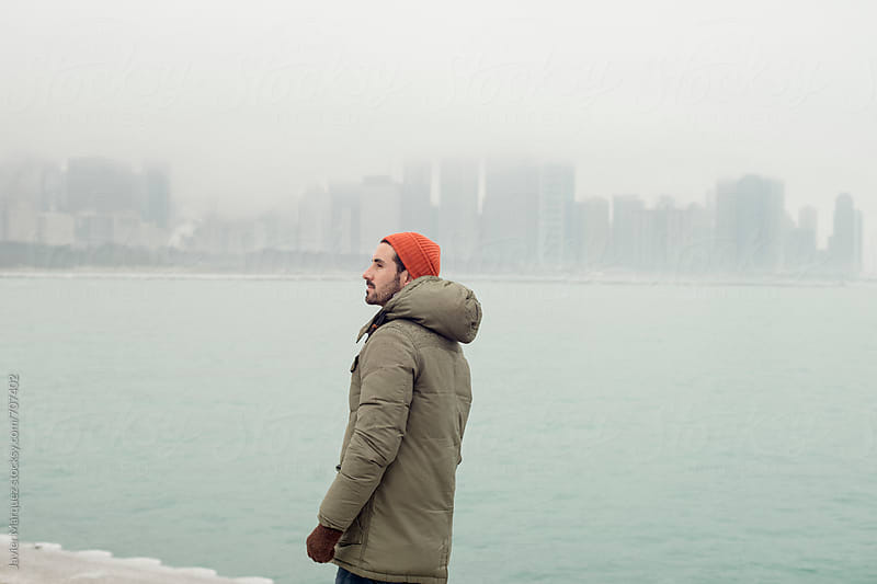 Men in Chicago Port by Márquez Studio for Stocksy United