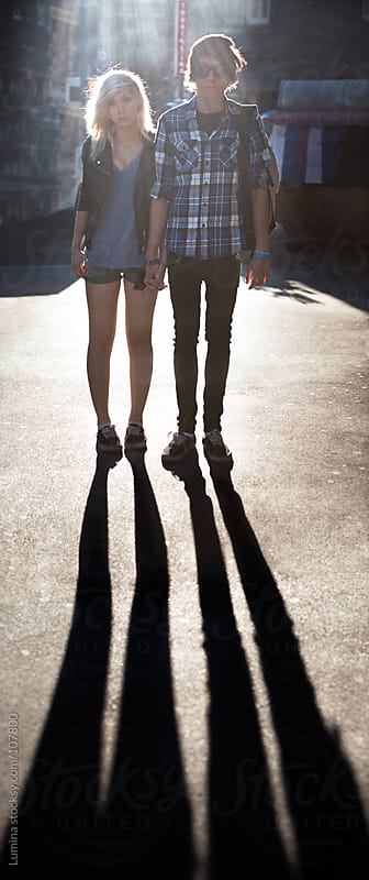 Urban Teenage Couple by Lumina for Stocksy United