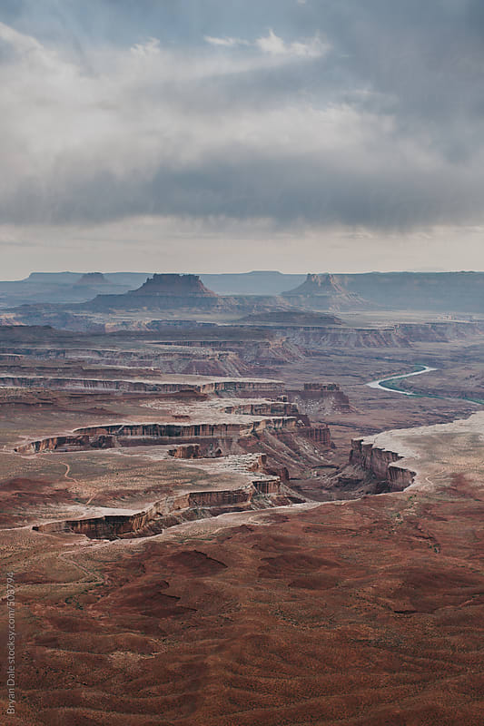 Thunderstorm at Canyonlands National Park  by Bryan Dale for Stocksy United
