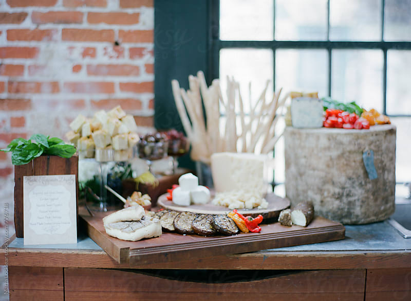 Elegant Aged Cheese Display by Marta Locklear for Stocksy United