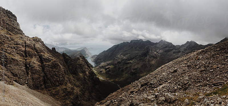 Panoramic view from the Cuillin ridge on Skye by Neil Warburton for Stocksy United