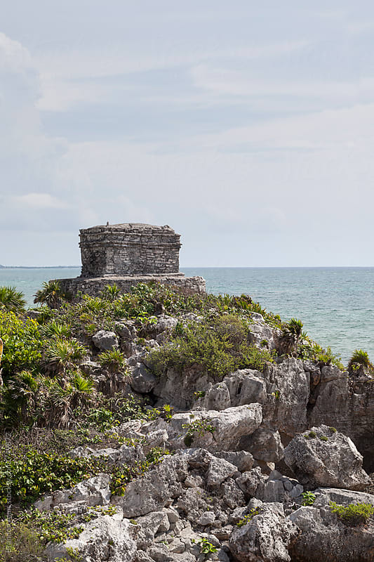 Mayan Ruins in Tulum Mexico by Brandon Alms for Stocksy United