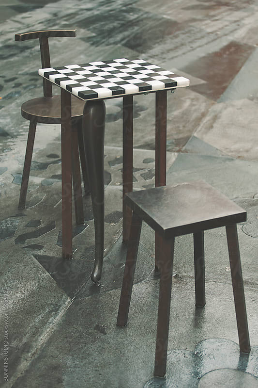 Chess board on the street. by BONNINSTUDIO for Stocksy United