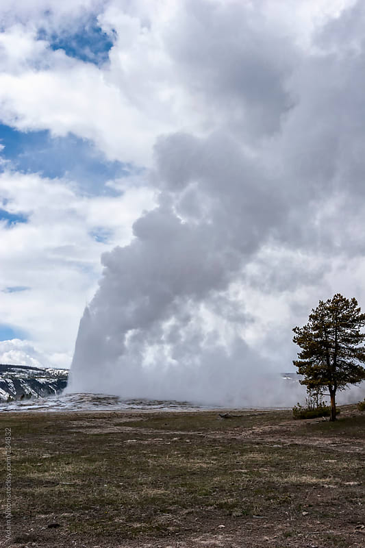 Yellowstone National Park, Old Faithful by Adam Nixon for Stocksy United
