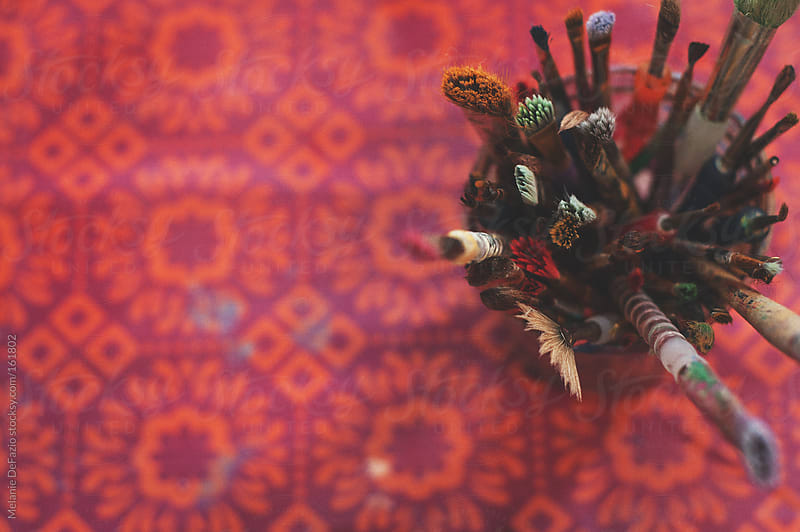 Paint Brushes  by Melanie DeFazio for Stocksy United
