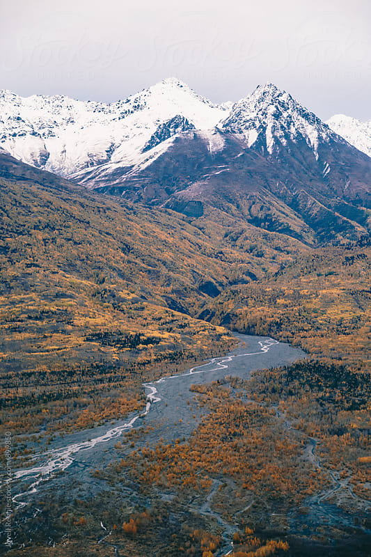 Aerial Alaska by Jovell Rennie for Stocksy United