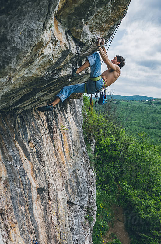 powerful rock climber  by RG&B Images for Stocksy United
