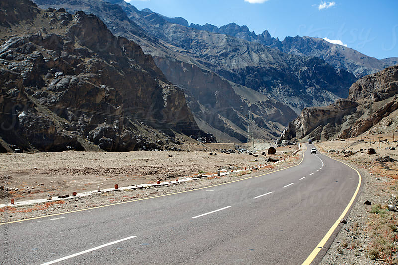 Road view in Ladakh,India by PARTHA PAL for Stocksy United