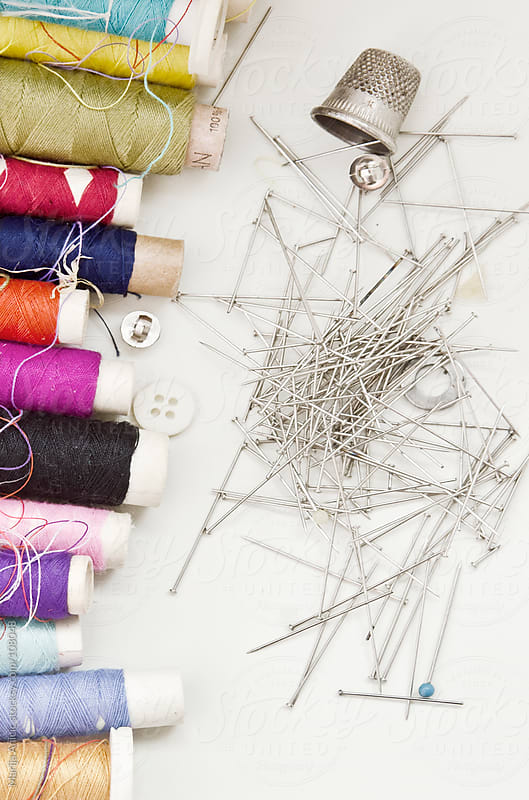 A lot of colorful threads for sewing by Marija Anicic for Stocksy United