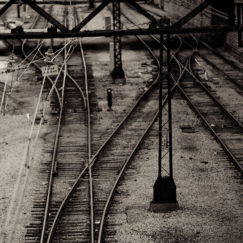 Chicago Train Tracks by Thomas Hawk for Stocksy United