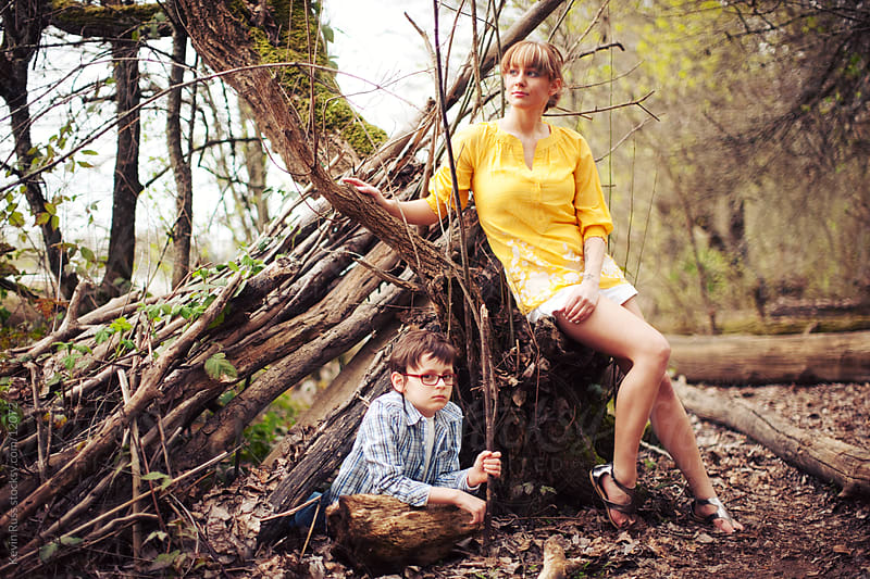 Mother and Son at the Fort by Kevin Russ for Stocksy United