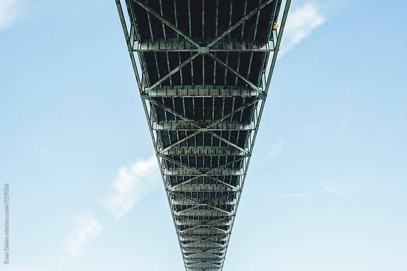 Underneath Fremont Bridge Portland Oregon by Evan Dalen for Stocksy United