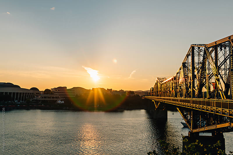 Royal Alexandra Interprovincial  Bridge at Sunset by Preappy for Stocksy United