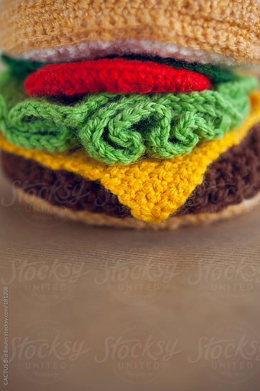 Amigurumi hamburger by CACTUS Blai Baules for Stocksy United