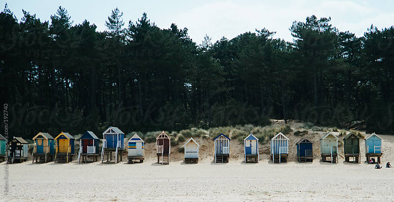 Beach Huts by Helen Rushbrook for Stocksy United