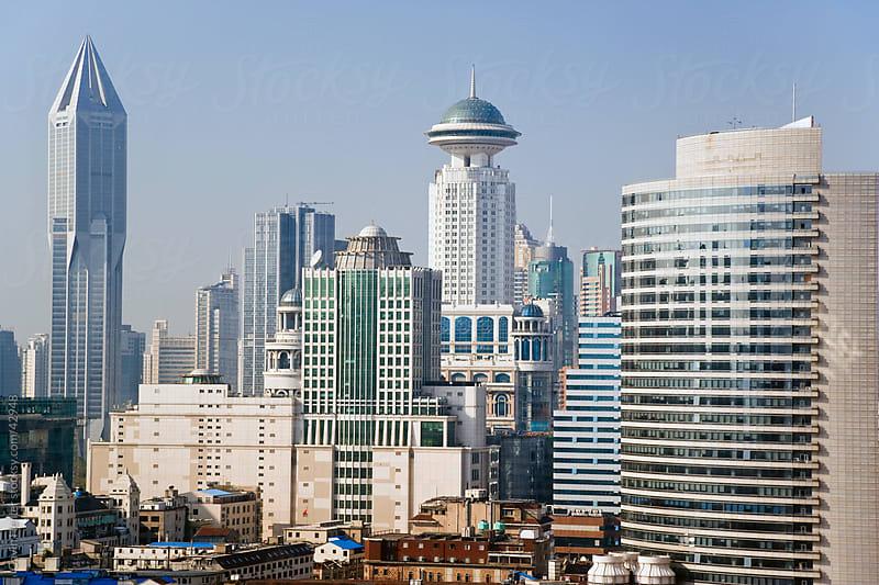 China, Shanghai, the new modern skyline of Shanghai by Gavin Hellier for Stocksy United